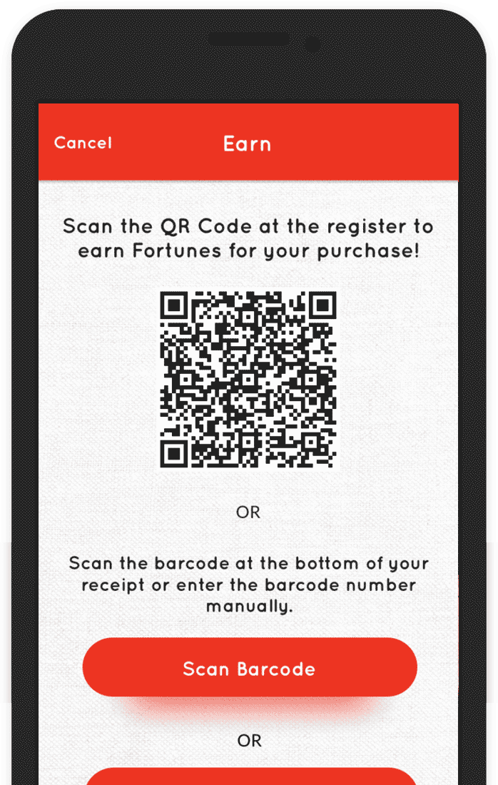 scan to earn